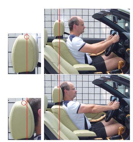 Normale Sitz- (oben) und Schutzhaltung (unten)